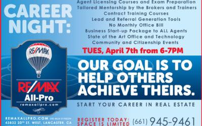April 7 Career Night